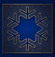 snowflake shape patterned background vector image vector image