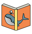 text book open icon vector image