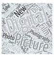 Why Digital Photography Word Cloud Concept vector image vector image
