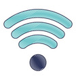 wifi signal icon in colored crayon silhouette vector image vector image