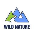 wild nature logo design vector image vector image