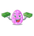 with money eggs easter holiday character for vector image