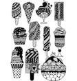 zen ice cream vector image
