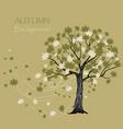 beautiful maple tree vector image