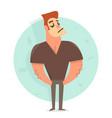 cartoon character man funny vector image