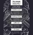 menu of ice cream hand drawing vector image