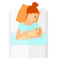 Woman in maternity ward vector image