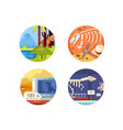 archeology set of icons vector image