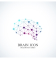Colorful Template Brain Logo Creative vector image