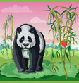 cartoon asian animal template vector image