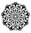 round black and white ornament floral decoration vector image
