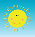 abstract smiling sun vector image vector image