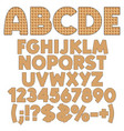 alphabet numbers and signs from wafers vector image vector image