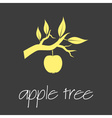 apple tree symbol simple business banner eps10 vector image vector image