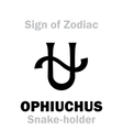 Astrology Sign of Zodiac OPHIUCHUS The Snake vector image vector image