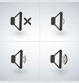 audio speaker volume or music speaker volume icons vector image vector image