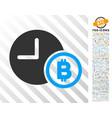 bitcoin credit clock flat icon with bonus vector image vector image