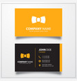 Bow tie icon business card template