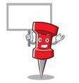 bring board red pin character cartoon vector image