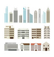 buildings and skyscrapers object set vector image vector image