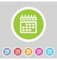 Calendar flat icon web sign symbol logo label vector image vector image