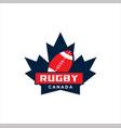 canadian maple ruglogo design vector image vector image
