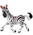 Cartoon zebra vector