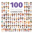 Casually Dressed Flat Characters Big Collection vector image vector image