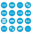 check mark icon blue vector image vector image