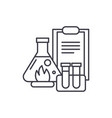 chemical experiments line icon concept chemical vector image vector image