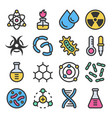 chemistry science details colorful icon set vector image vector image