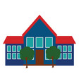 clipart school and its premises viewed vector image