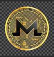 crypto currency monero golden symbol vector image vector image