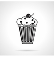 Cupcake with raisins black icon vector image vector image