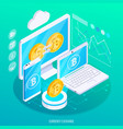 currency exchange isometric composition vector image vector image