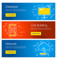 database link building network line art flat vector image vector image
