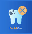 dental care concept bad hygiene teeth prevention vector image