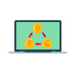 exchange rates concept icon cryptocurrency mining vector image
