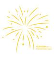firework design vector image vector image
