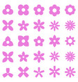 flower simple shape icon set vector image vector image