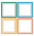 Frameworks in pastel colors vector image
