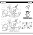 game of differences with animals vector image vector image