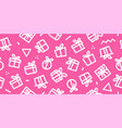 gift seamless pattern pink background vector image