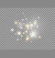 glowing light effect bright golden and white vector image vector image