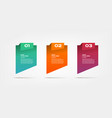 gradient infographics step step element of vector image