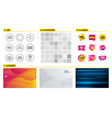 group sales diagram and next icons web shop vector image vector image