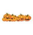 halloween orange pumpkins banner vector image