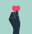 hand with love vector image