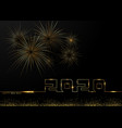 happy new year 2020 gold fireworks background vector image vector image