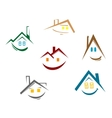 House symbols vector image